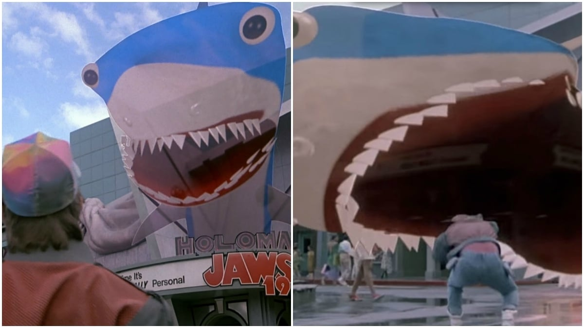 The Jaws hologram gave Marty quite the scare in the movie