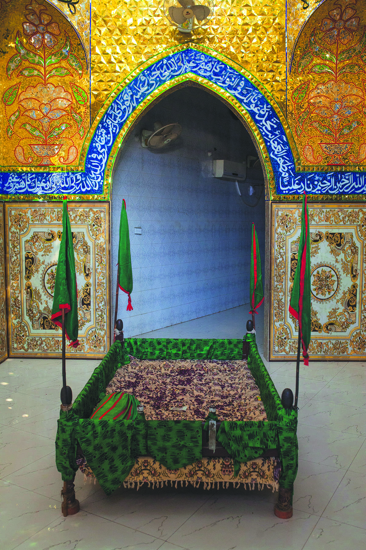 Inside an imambargah in Shikarpur   Mohammad Ali, White Star
