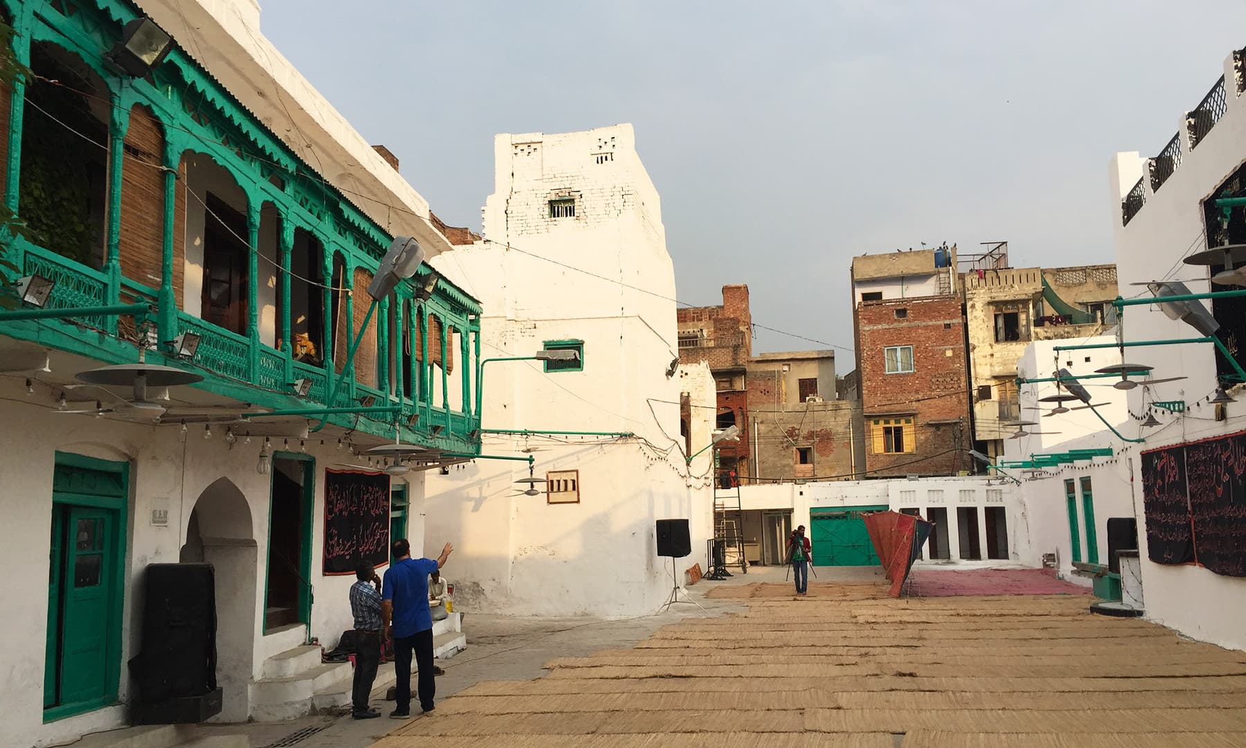 The wooden green balconies where the caretakers of Nisar 'haveli' live. —Taimur Shamil