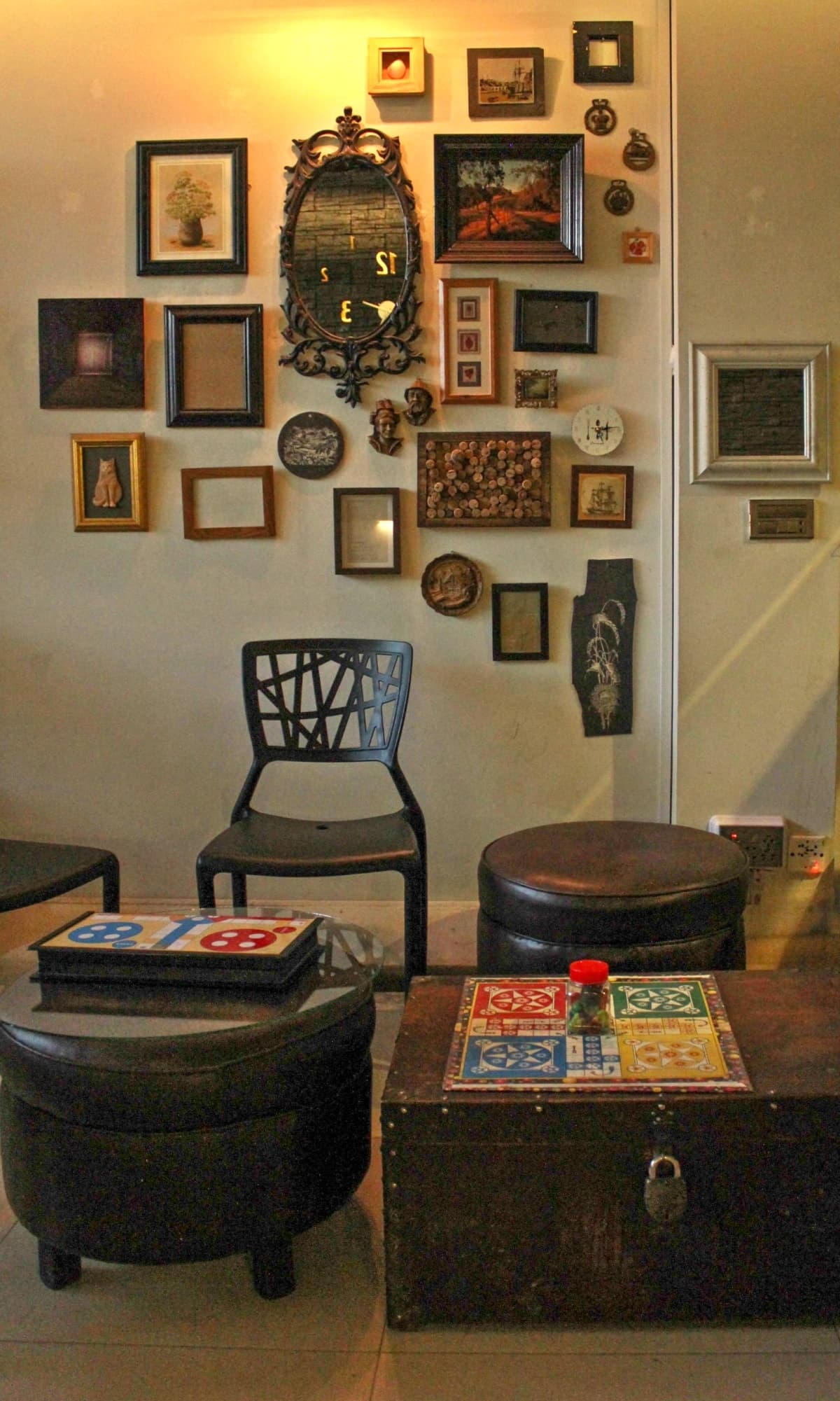 There's room for mental stimulation at Chai Chowk - ludo and chess boards await - Photo by author