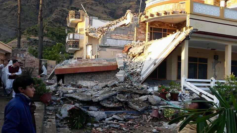 Damage caused by the earthquake in Swat.  —DawnNews