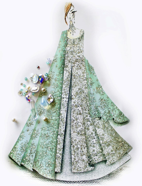 Elan has created a Swarovski-studded angrakha for the Sparkling Couture exhibition – Photo courtesy Elan