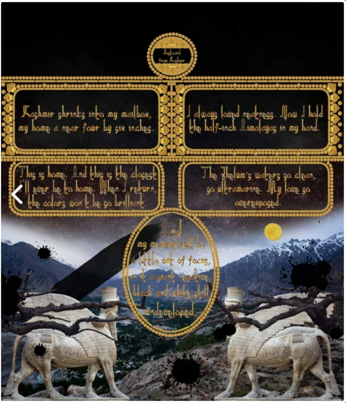 Postcard from kashmir poem summary