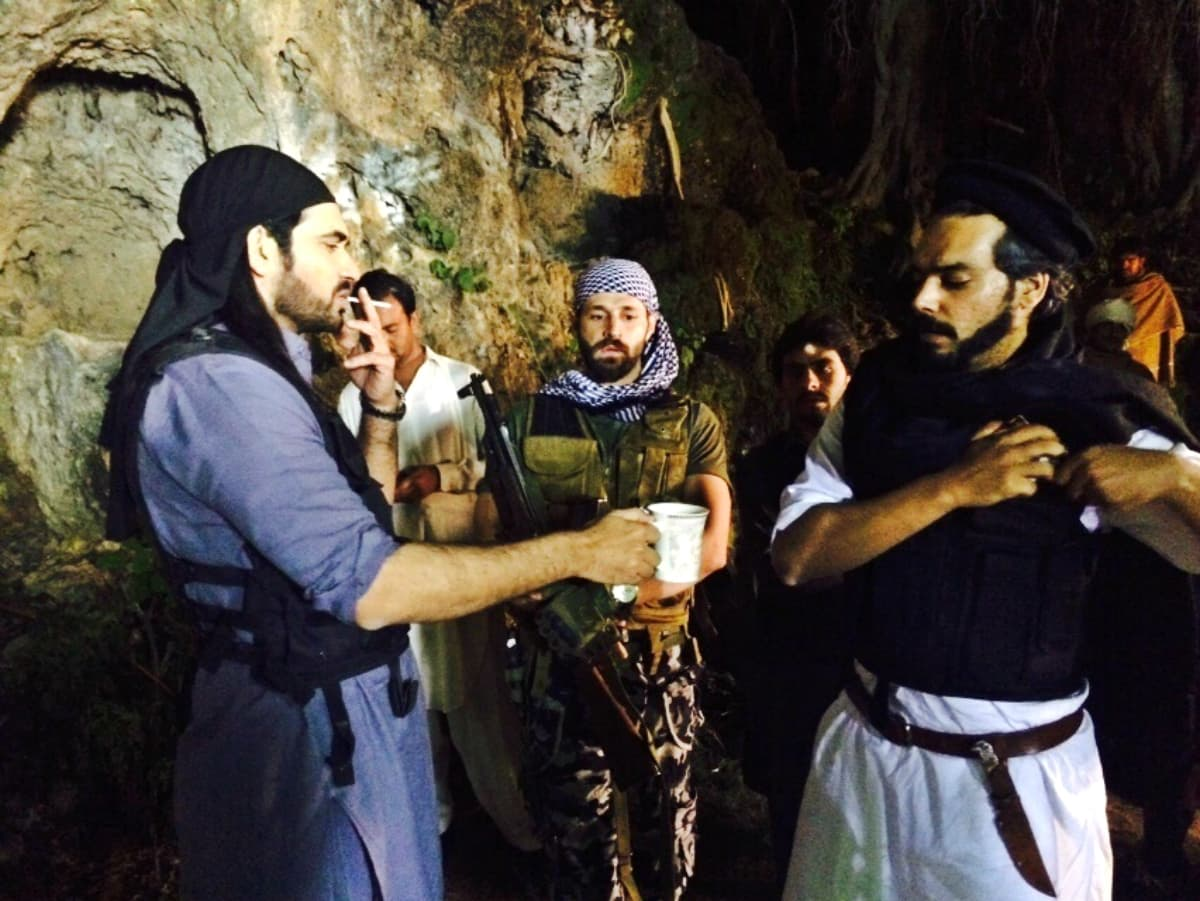 There's always time for a chai and smoke... even in the middle of a gruelling shoot schedule!