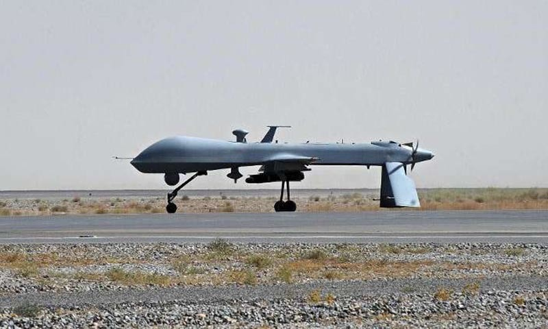 The drone targeted a hide out of the militants and killed four while injuring two. -AFP/File