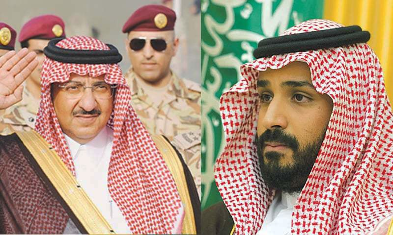 Top royals in Saudi power struggle
