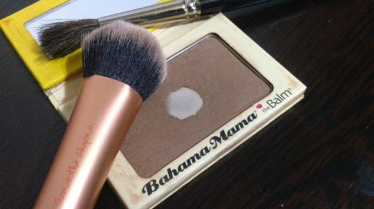 The Balm's bronzer is the perfect matte shade for this look