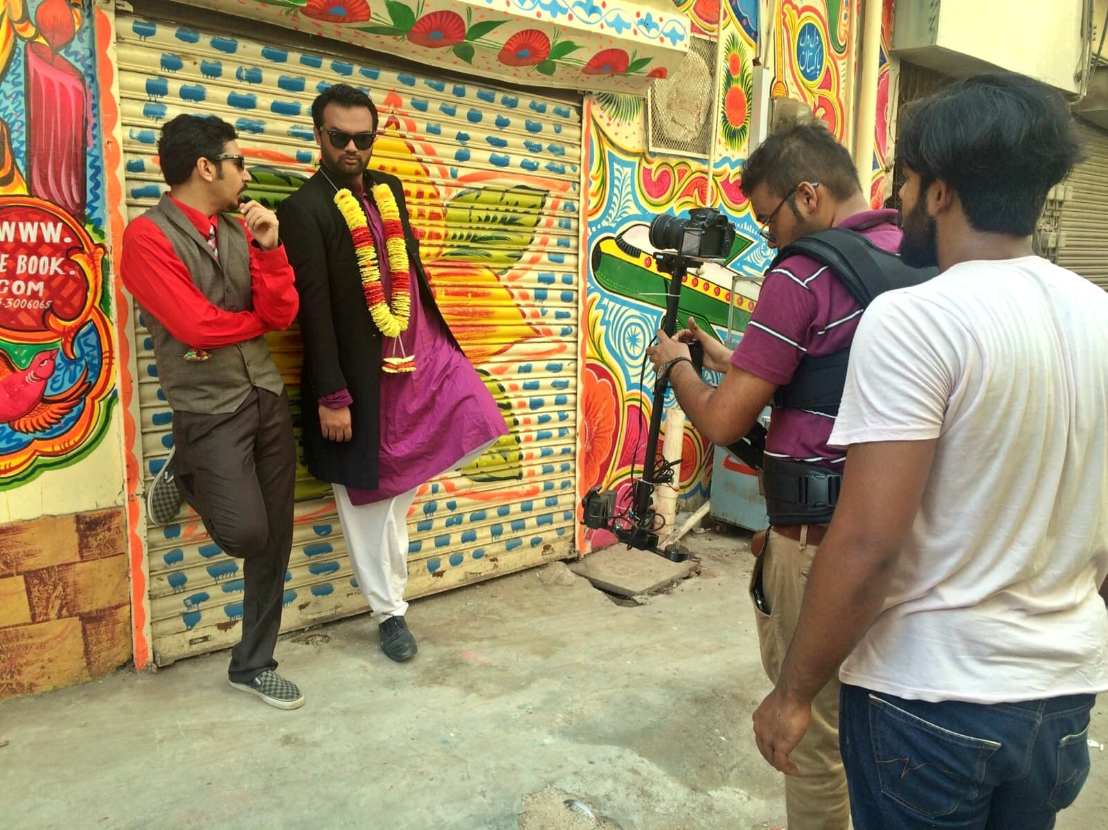 Scenes from 'No CNG's shoot – Photograph by Jamil Alvi