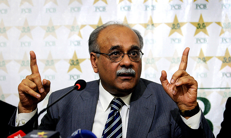 In this photo, PSL Chairman Governing Council Najam Sethi addresses a press conference in Lahore. — AFP/File