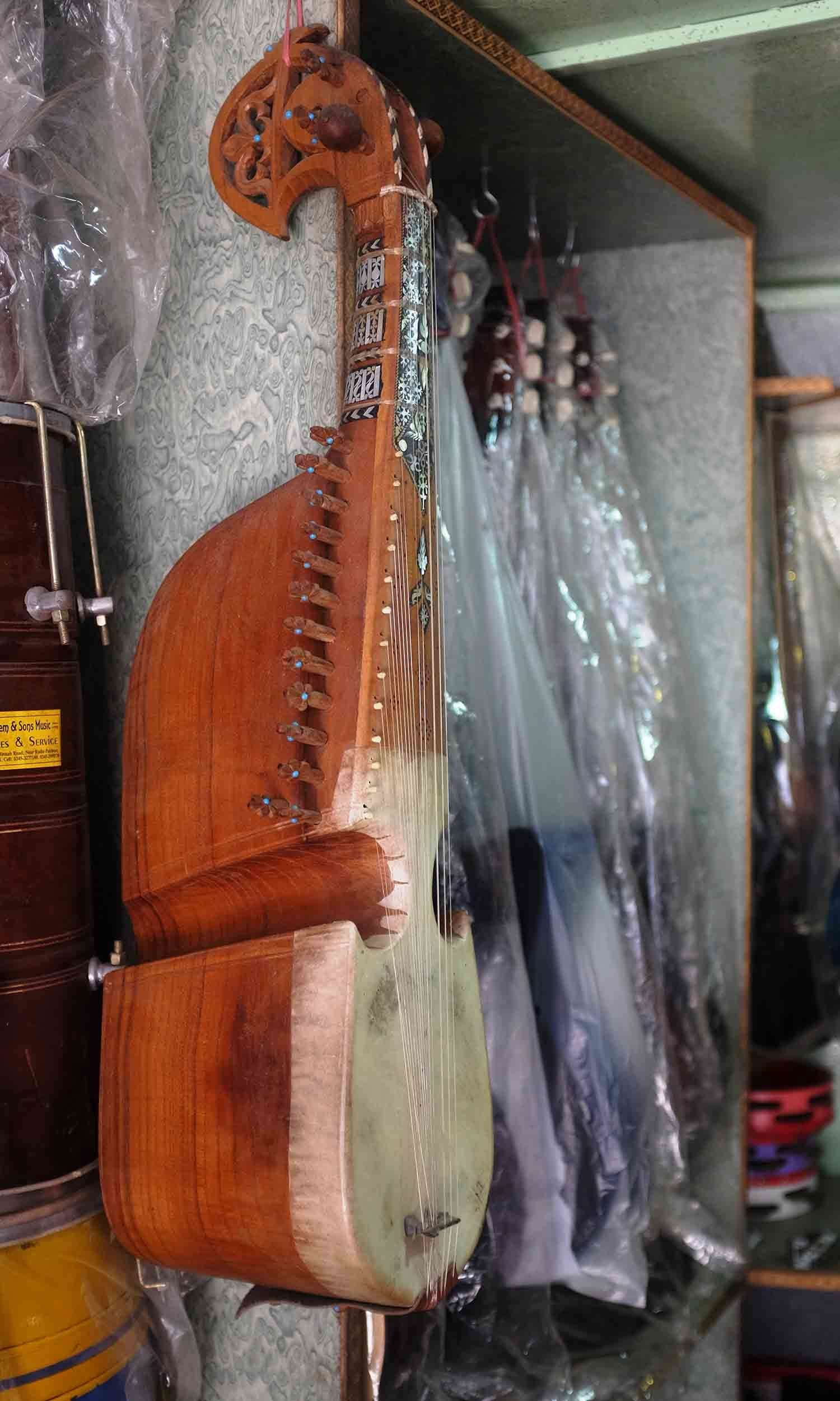 Saleem and sons have a workshop in Korangi which manufactures rubabs and harmoniums.