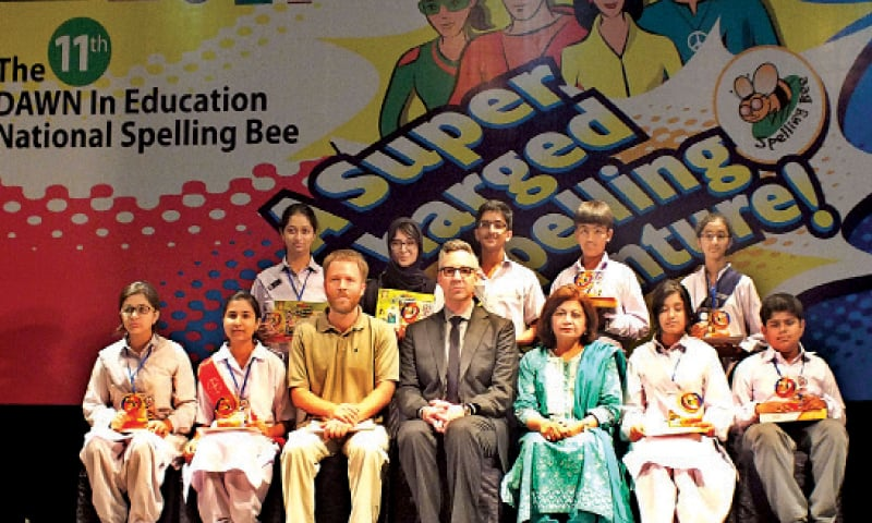 Nine students become Spelling Bee Lahore champions
