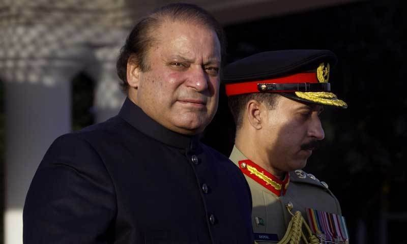 Prime Minister Nawaz Sharif donated a planeload of wheat to Afghanistan. — AP/File