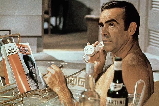 Vodka and vermouth in Sean Connery's Diamonds Are Forever.