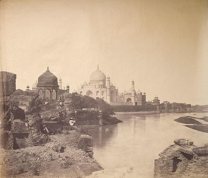 The Taj in 1862: Crumbling.
