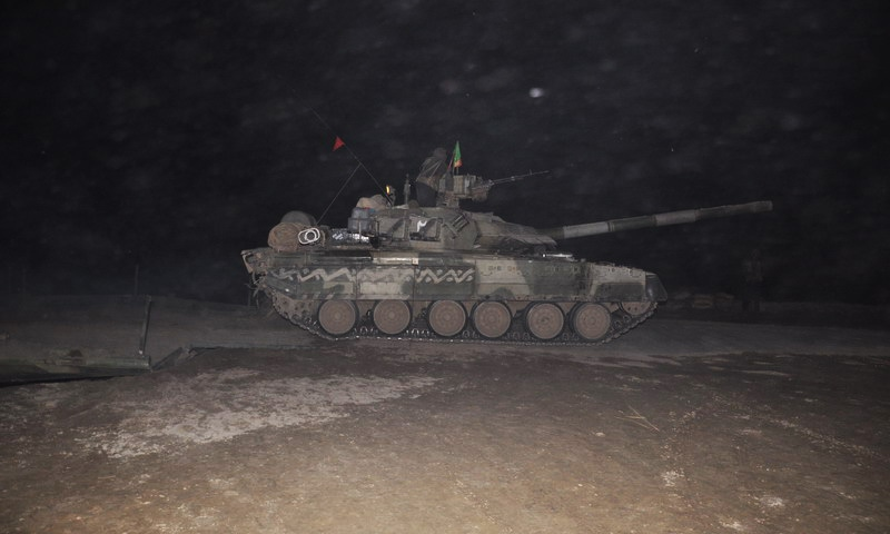 Al-Khalid during a military exercise. — Photo courtesy Pakistan Army