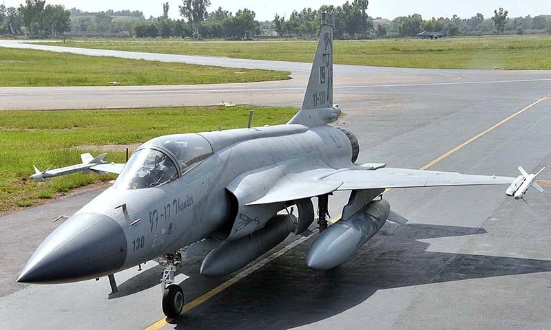 """Air Chief Marshal Sohail Aman said """"the participation of PAF in this air show is a matter of great pride for us and many countries in general and Islamic countries in particular have shown interest in the JF-17 Thunder aircraft."""" — APP/File"""
