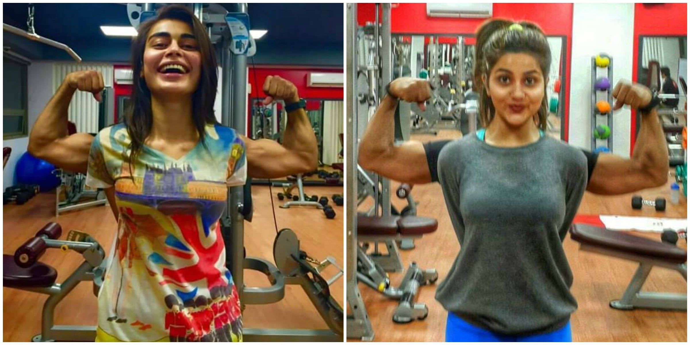 Sadaf Kanwal and Sohai Ali Abro good off in their downtime at the gym - Photos courtesy Rizwan Noor