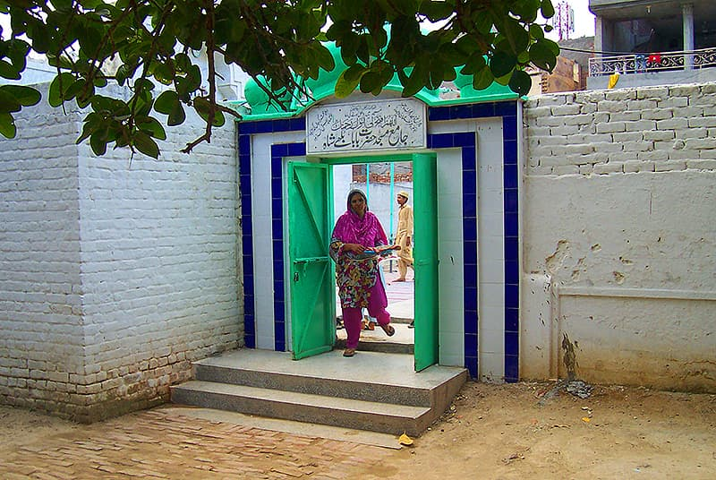 Entrance to the Baba Bulleh Shah mosque at Amar Sidhu village.