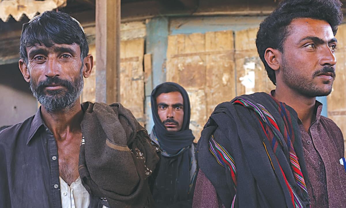 Men in  a market in Balochistan | Malika Abbas, White Star