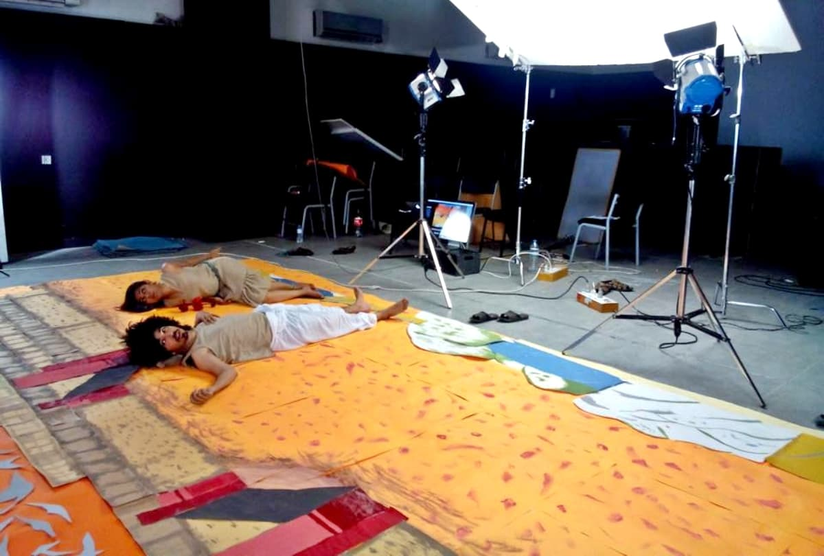Behind the scenes of Mooroo's stop-motion video for 'Mariam' – Photograph by Salman Noorani