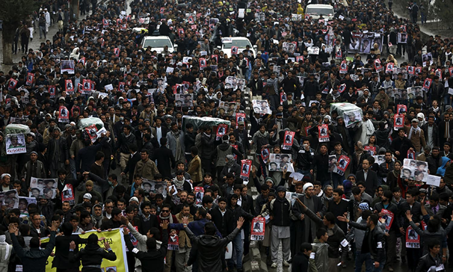 Massive protest in Kabul over decapitation of Shia Hazaras