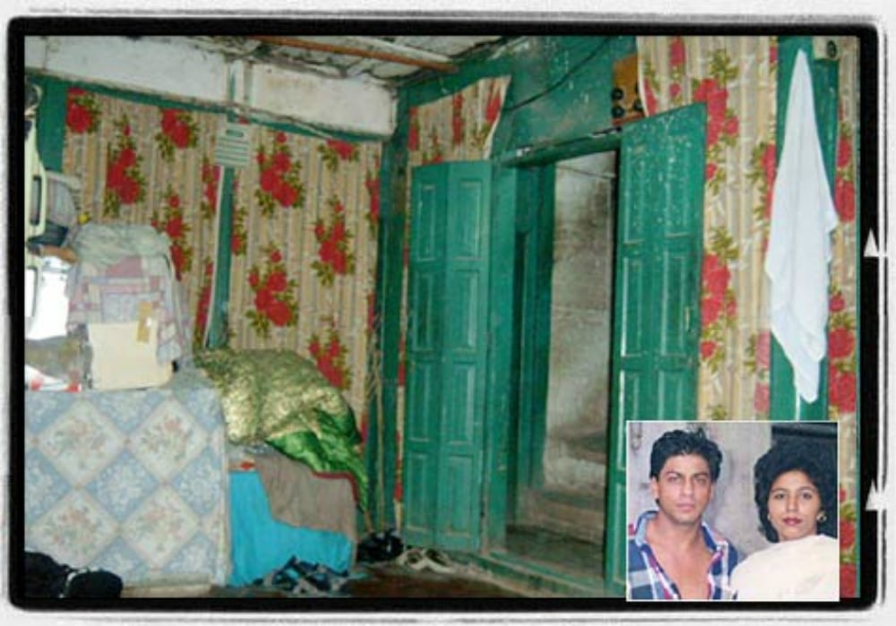 Shah Rukh Khan's ancestral home in Peshawar; inset: SRK with his cousin from Peshawar – Photo courtesy rediff.com