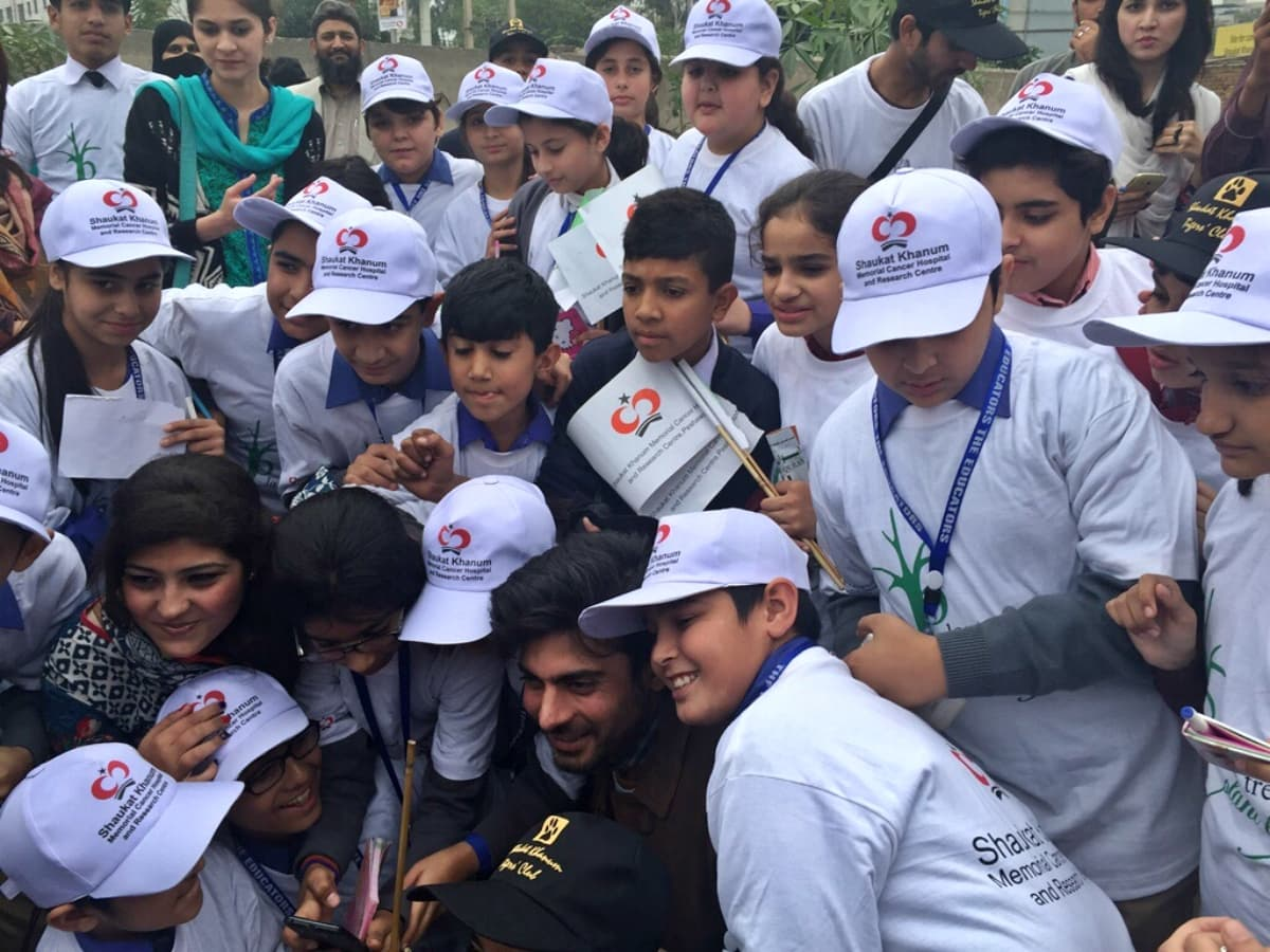 Fawad obliged his young fans with a selfie session at the event – Photo courtesy Fawad Khan