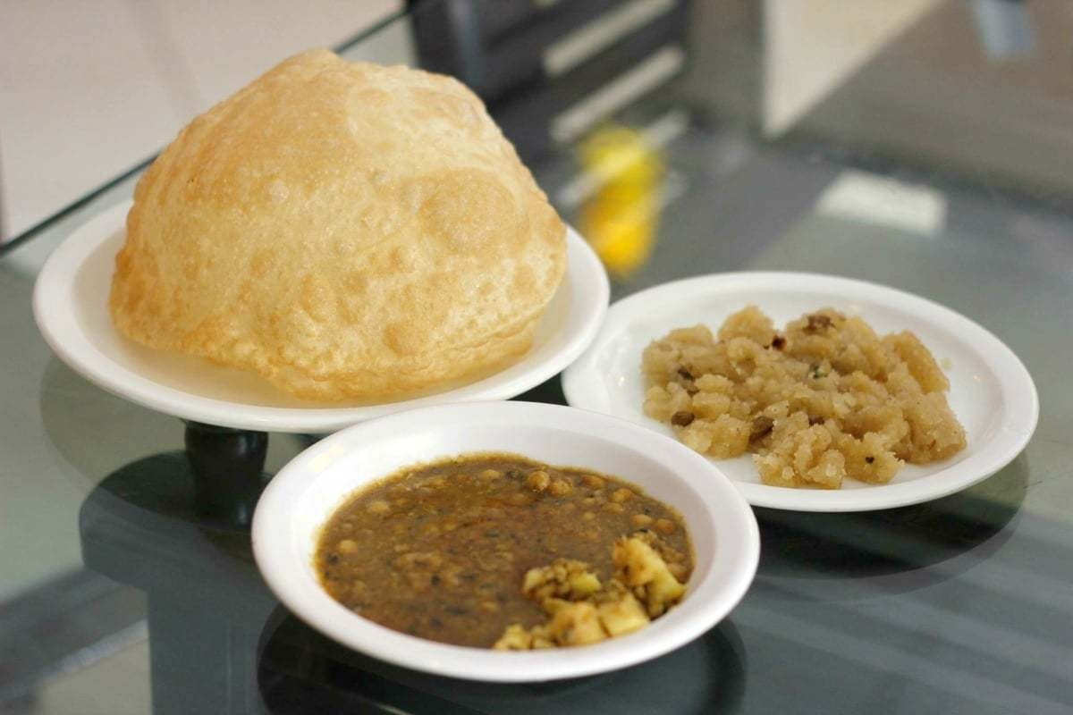 The puri channa got a B+ from the diners