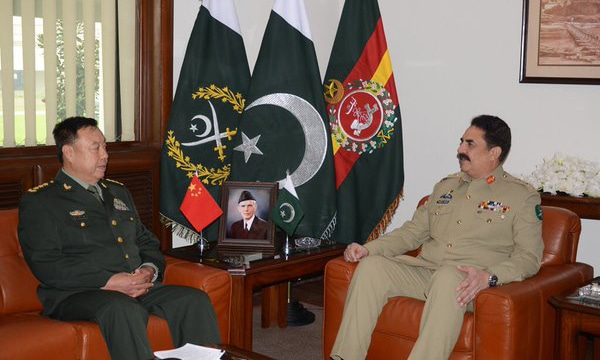 General Changlong said the cooperation in defence is a critical factor in maintaining peace and stability in the region. —Photo ISPR