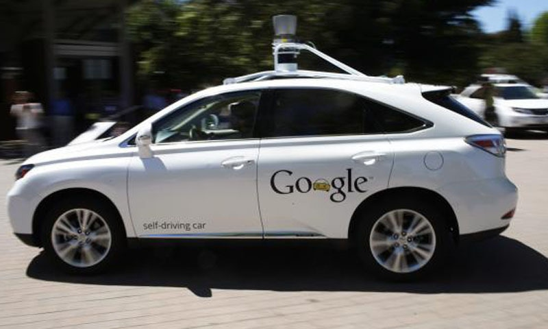 Cop stops Google driverless car for moving too slow