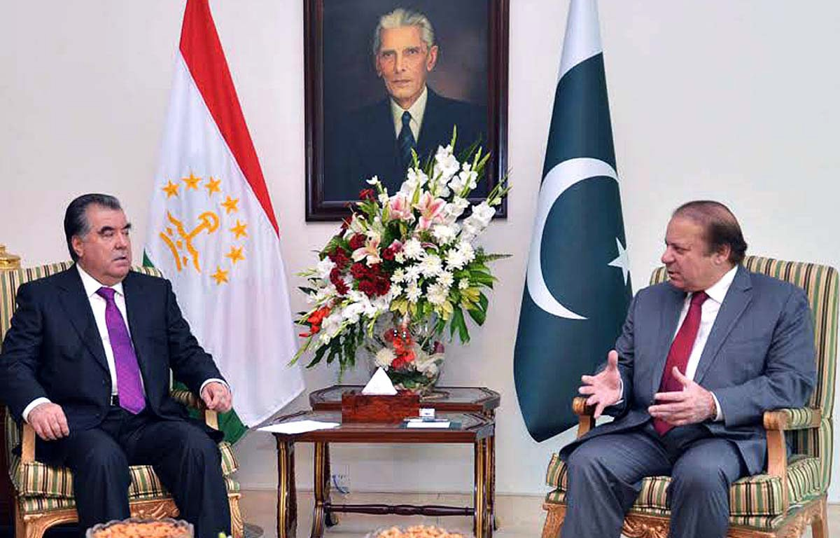 Prime Minister Nawaz Sharif earlier told the Tajik president that Pakistan was looking forward to the early completion of CASA-1000 project. —APP/File