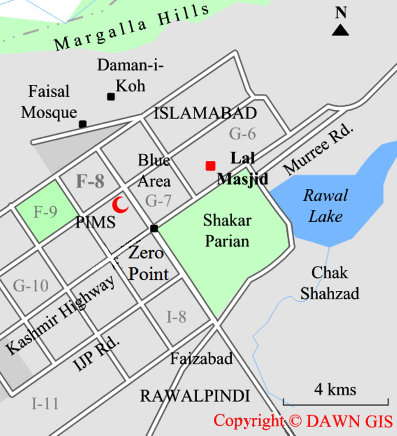 Islamabad Pakistan Map: Security Beefed Up As Lal Masjid Cleric Launches Fresh