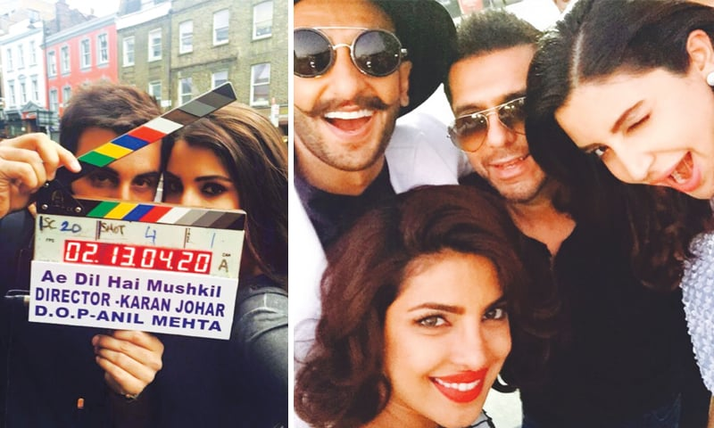On the ADHM set with Ranbir Kapoor & Selfie time with the gang