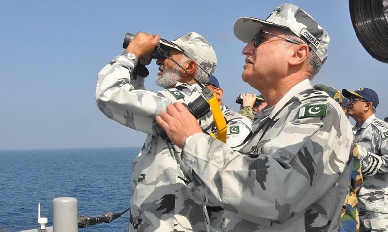 Admiral Zakaullah witnessed the missile firing. —PN