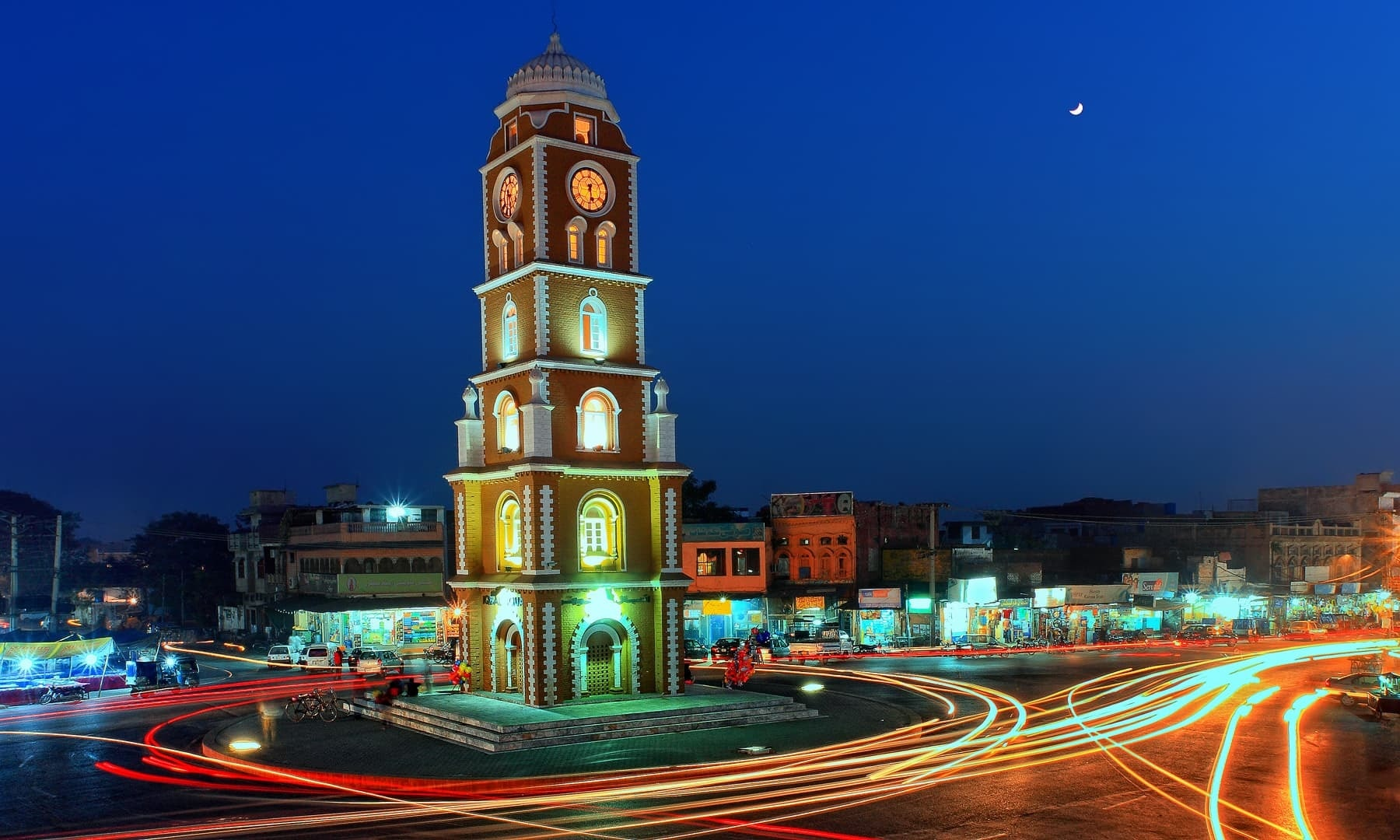 Sialkot's clock tower.