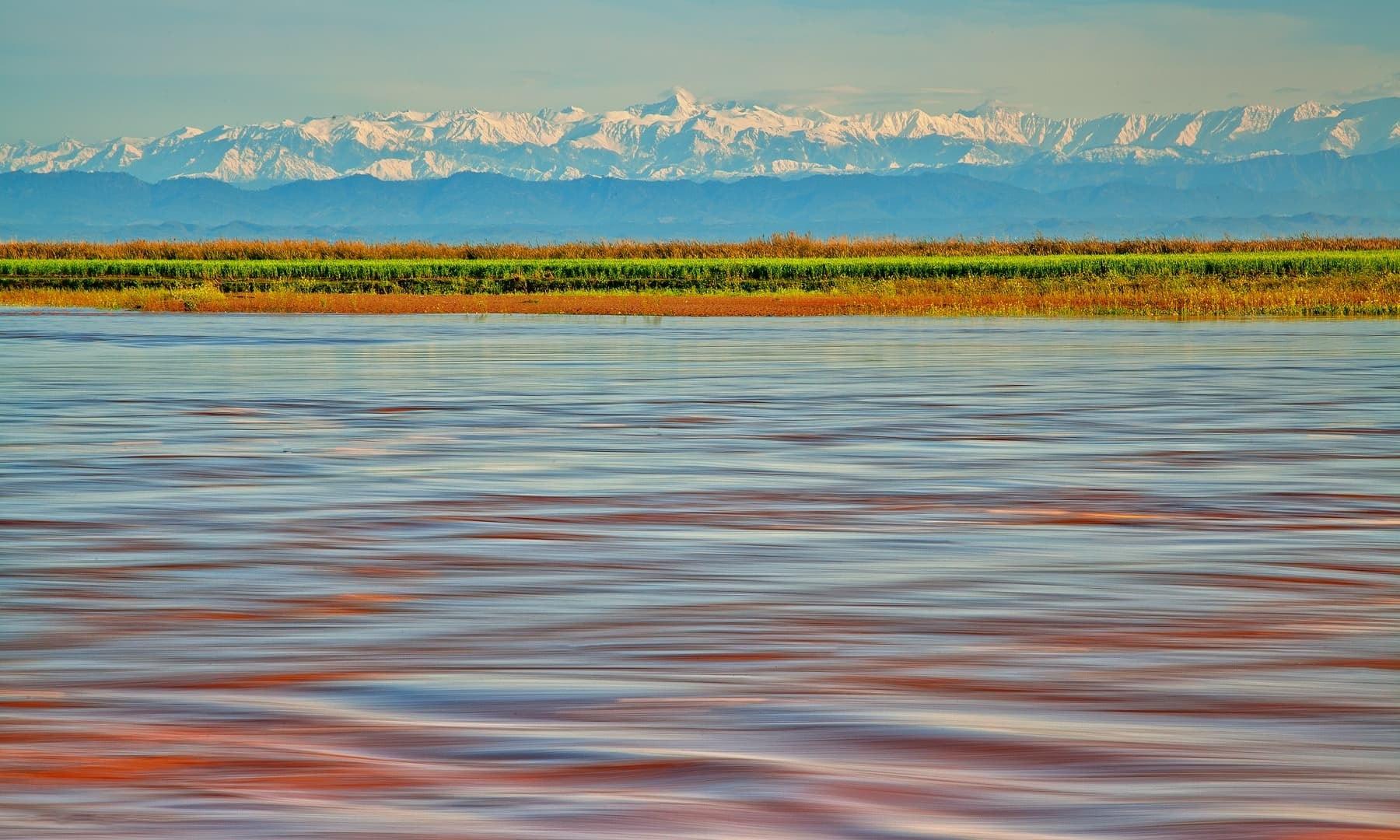 A long-exposure shot of River Chenab.