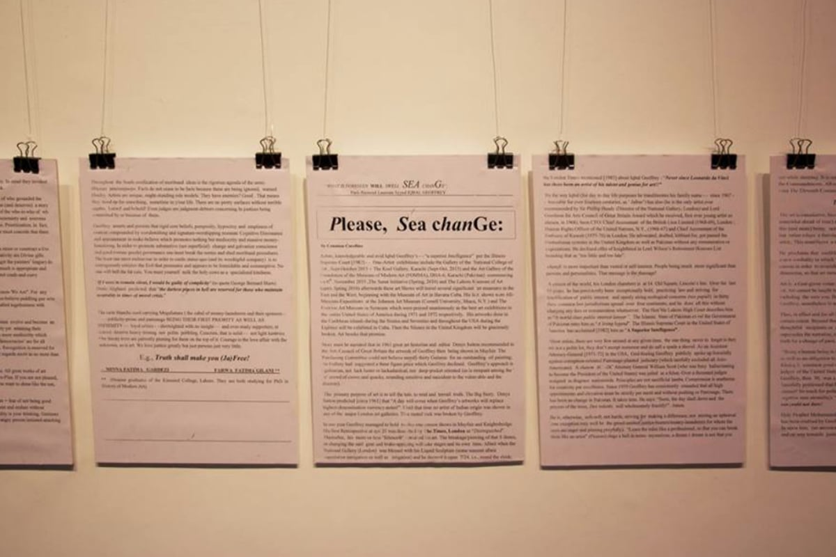 Geoffery plays with words, deconstructing and reconstructing the narrative