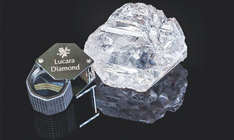 GABORONE (Botswana): The magnificent stone, the world's second largest  diamond and the largest ever to be recovered through a modern processing facility.—AFP