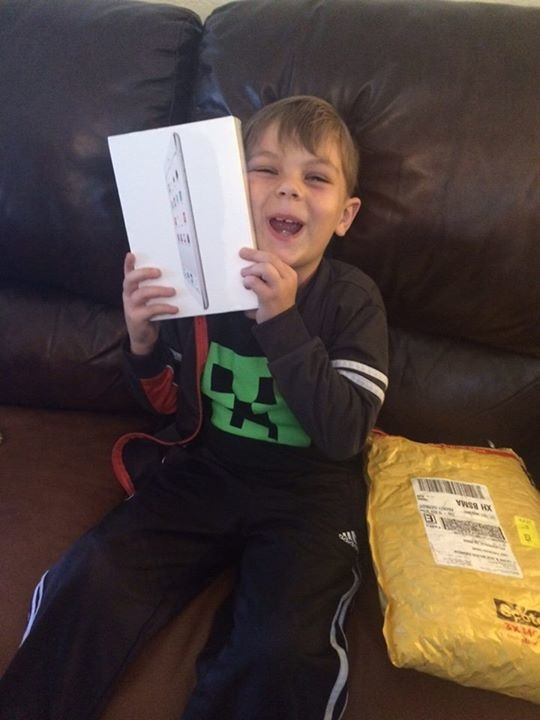 7-year-old Jack Swanson was gifted an iPad by his local mosque. – Arsalan Iftikhar