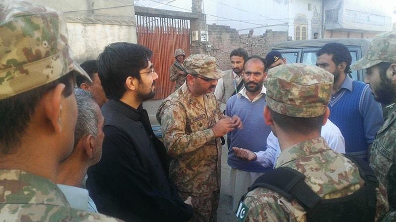 Authorities seal the place of worship was torched and soldiers are deployed for its protection..—Amir Kayani/File