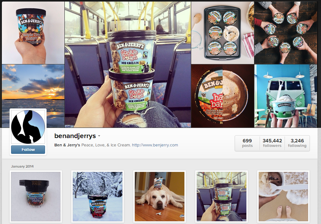 Ben & Jerrys launched their new flavour on Instagram.