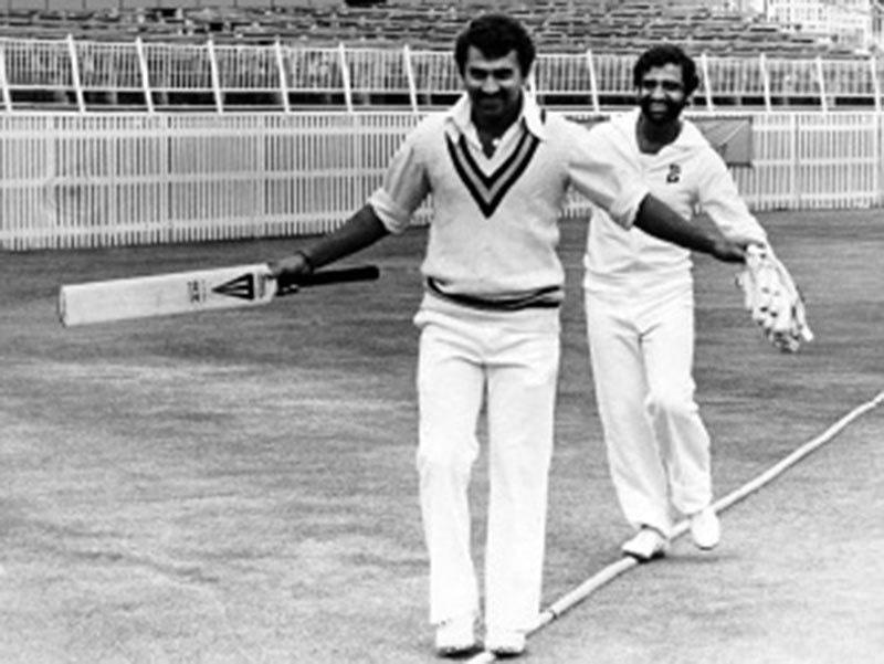 India's batting mainstays: Sunny Gavasakar and G. Vishwanath.