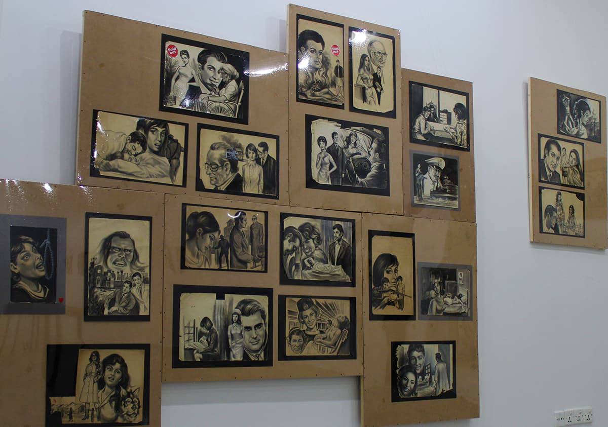 Some of Sajjad's work on display. — Photo by author