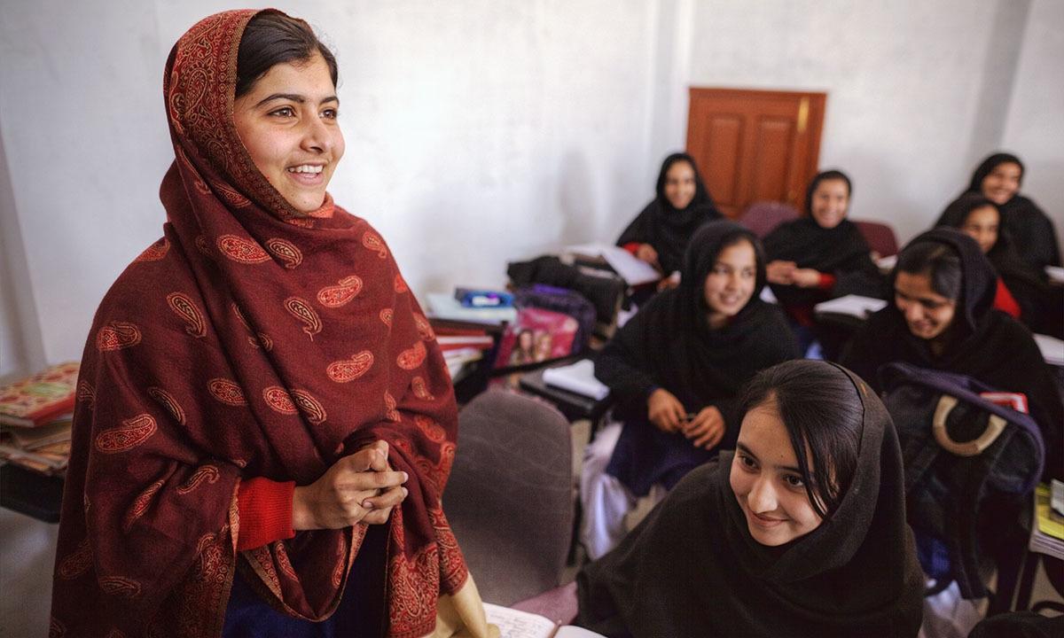 Malala Yousafzai in her classroom in Swat   Kohi Marri