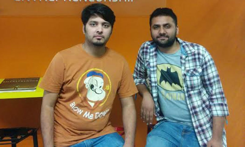 ShaadiBox's Talha Rehman with a team member.
