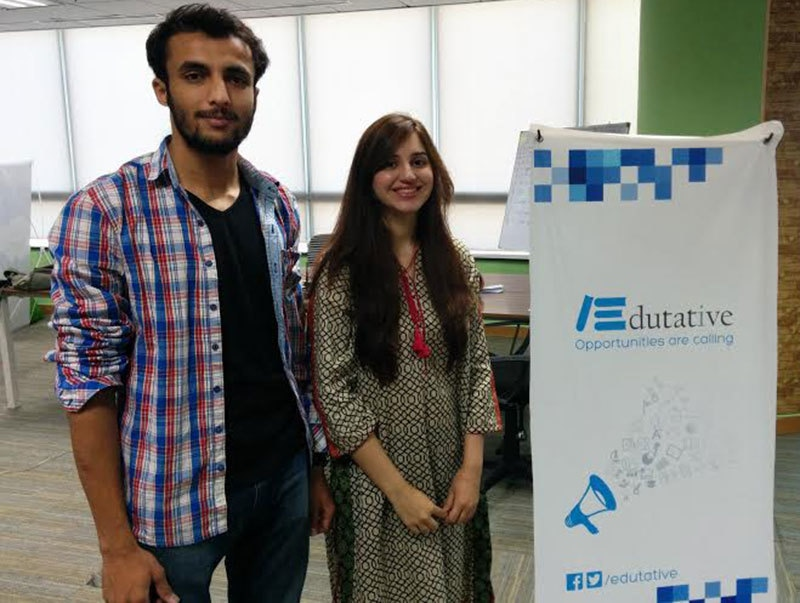 Edutative's Hira Irshad with the co-founder.