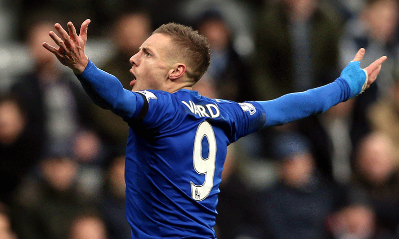 """Leicester is buzzing, and all because of Jamie Vardy and his records."" — AP/File"