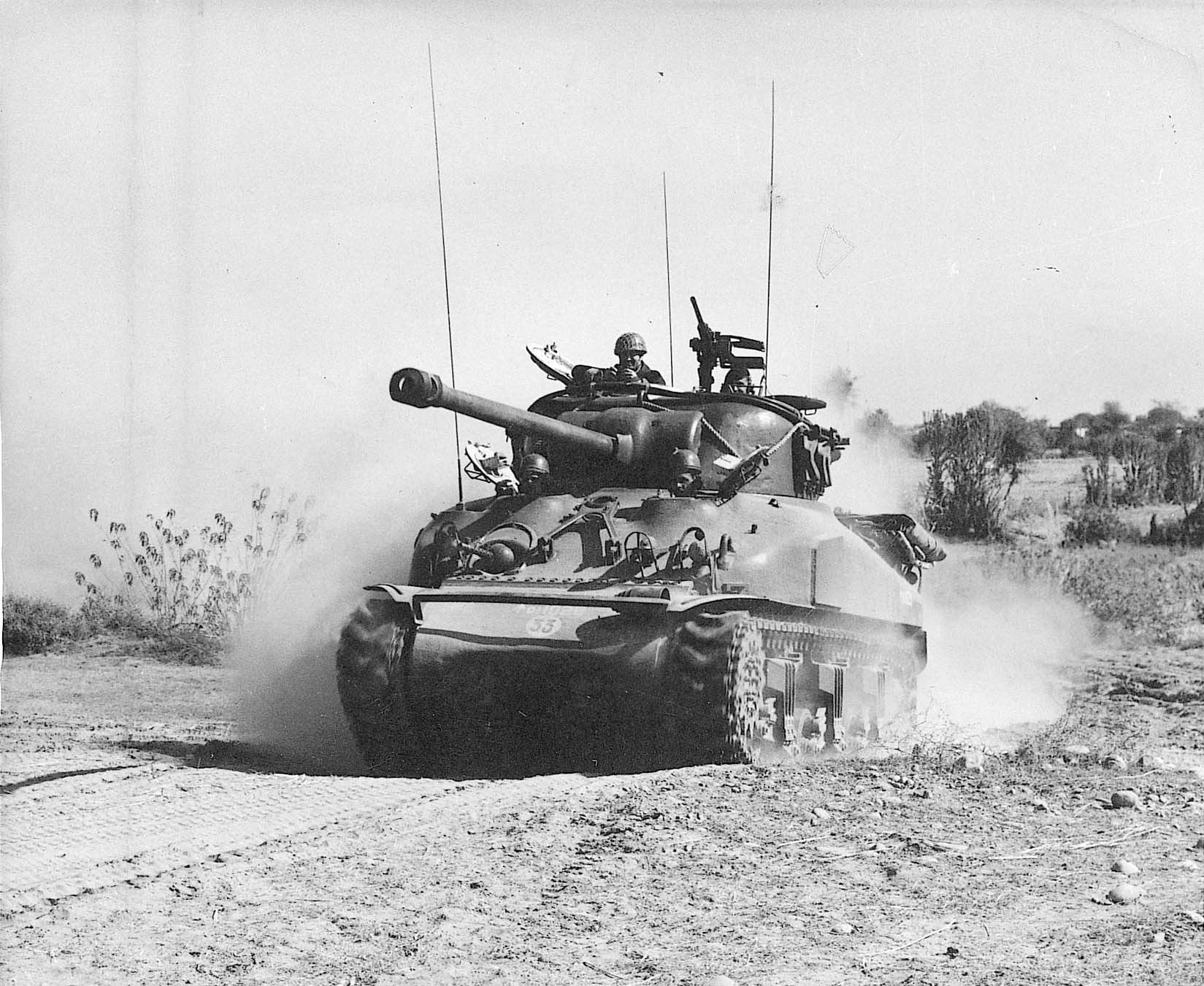A Pakistani tank on the move during the War of 1971 — White Star Archives
