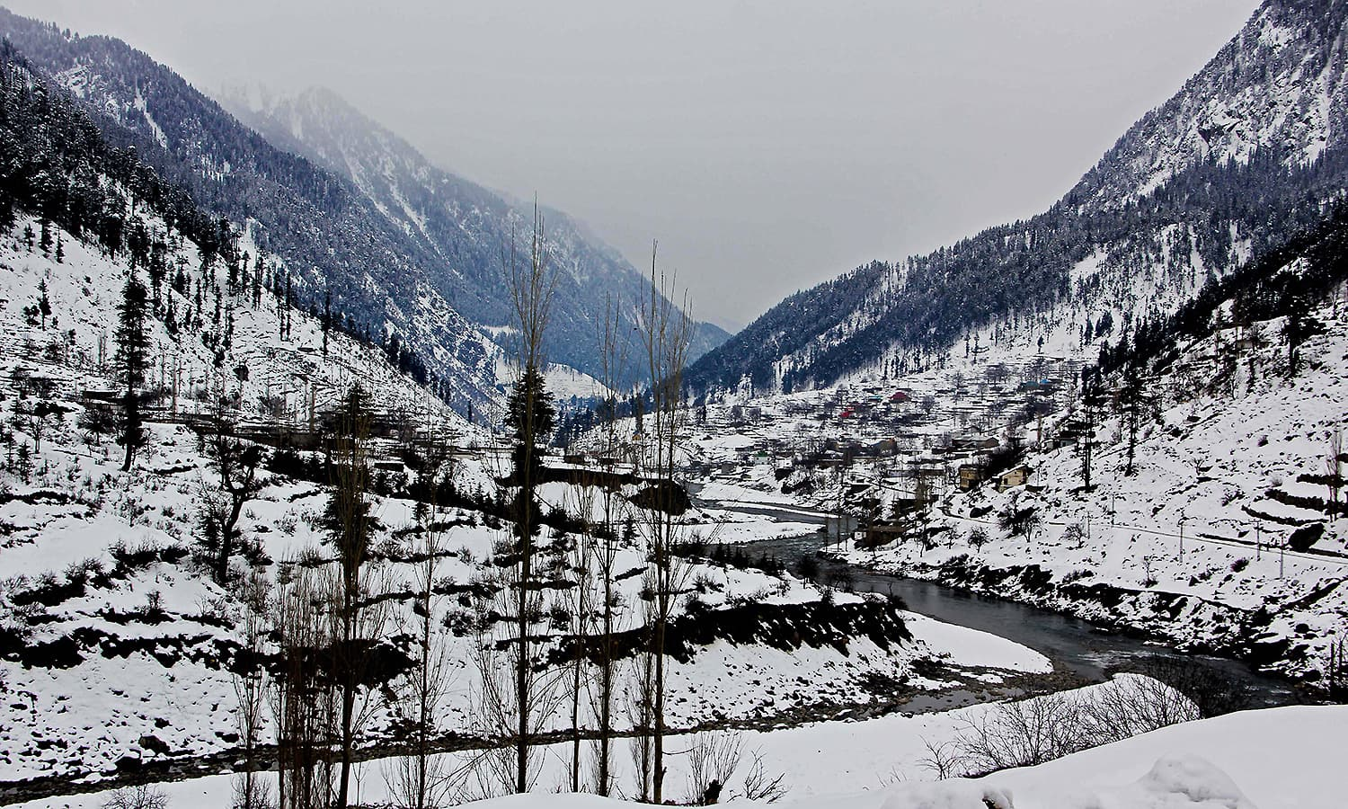 Stunning view of the Swat River in Kalam valley.  — Photo by author