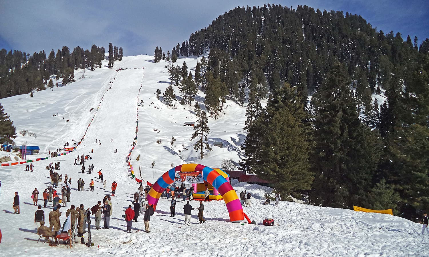 A view of the skiing slope at Malam Jabba.  — Photo by author